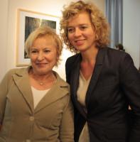 Bascha Mika & Lisa Ortgies, 2 der Preisträgerinnen und Symposiumsteilnehmerinnen