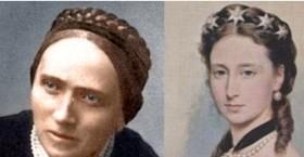 Luise Büchner (li) und Prinzessin Alice (re)