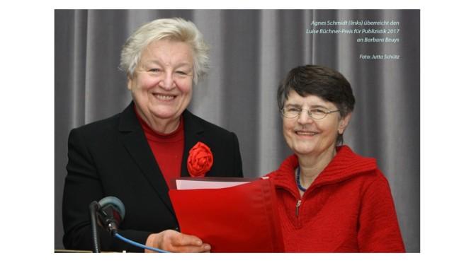 NACHLESE:<br>Verleihung des Luise Büchner-Preises an Barbara Beuys