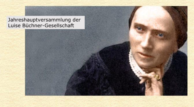 Mittwoch, 3. April um 18 Uhr<br>Jahreshauptversammlung der Luise Büchner-Gesellschaft e.V.