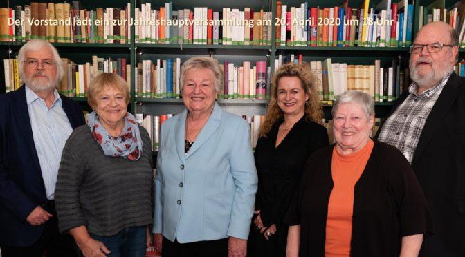 Jahreshauptversammlung der Luise Büchner-Gesellschaft<br>20 April um 18 Uhr