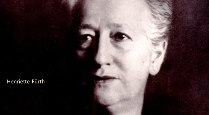 Henriette Fürth– ein Leben für Gerechtigkeit<br>22. April um19 Uhr