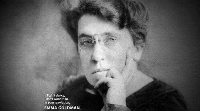 Antje Schrupp: Emma Goldmann ernstnehmen <br>8. Juni um 19 Uhr